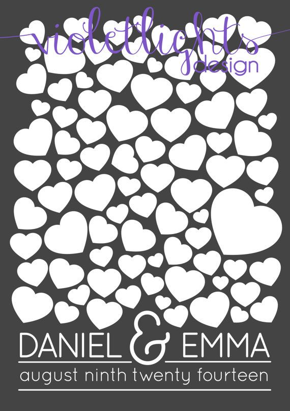 Wedding Guestbook Page  Physical Copy by VioletLightsDesign, $40.00