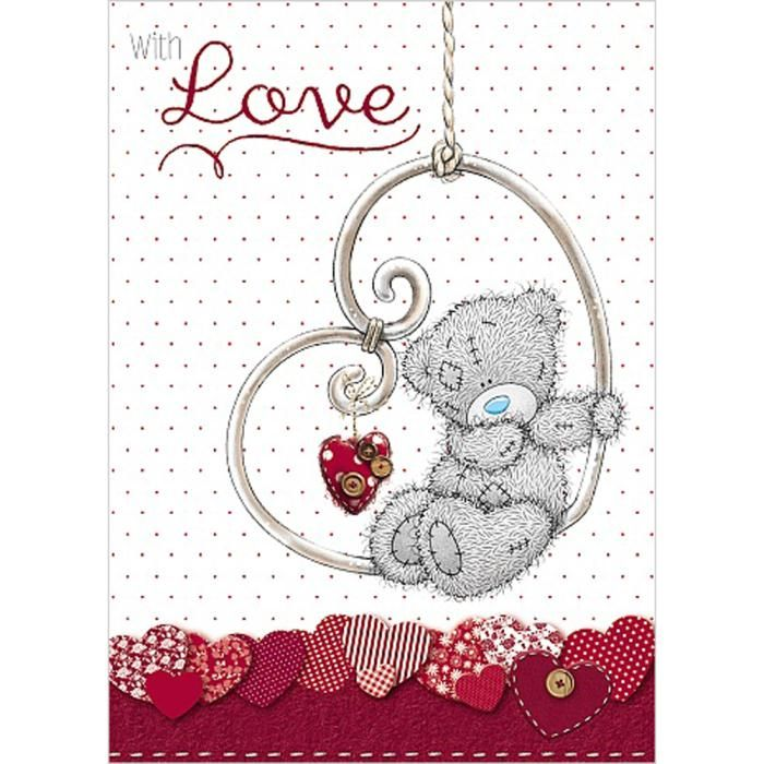 1235 best images about Tatty Teddy – Teddy Bear Valentines Day Card