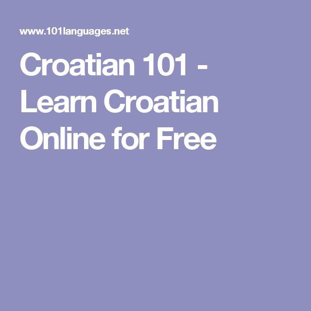 Croatian 101 - Learn Croatian Online for Free
