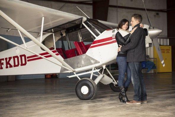 Unique Engagement Photography Session at Brampton Flight Centre