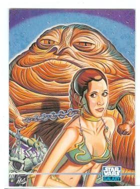 Princess Leia Slave Bikini trading card Star Wars Galaxy 1995 Topps #341 Jabba the Hutt Carrie Fisher //Price: $4 & FREE Shipping //     #starwarsfan