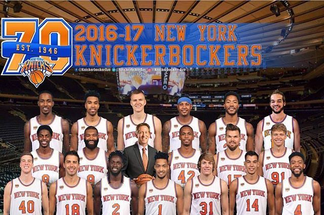 (via @knickerbocker_ave) Your 2016-2017 New York Knicks #knicks #knickstape #knicksnation #knicksfan #knicksallday #newyork #nyknicks #newyorkknicks #nba