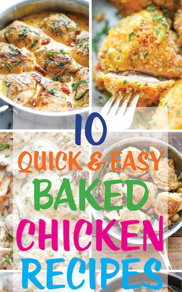 10 Quick and Easy Baked Chicken Dishes - -->