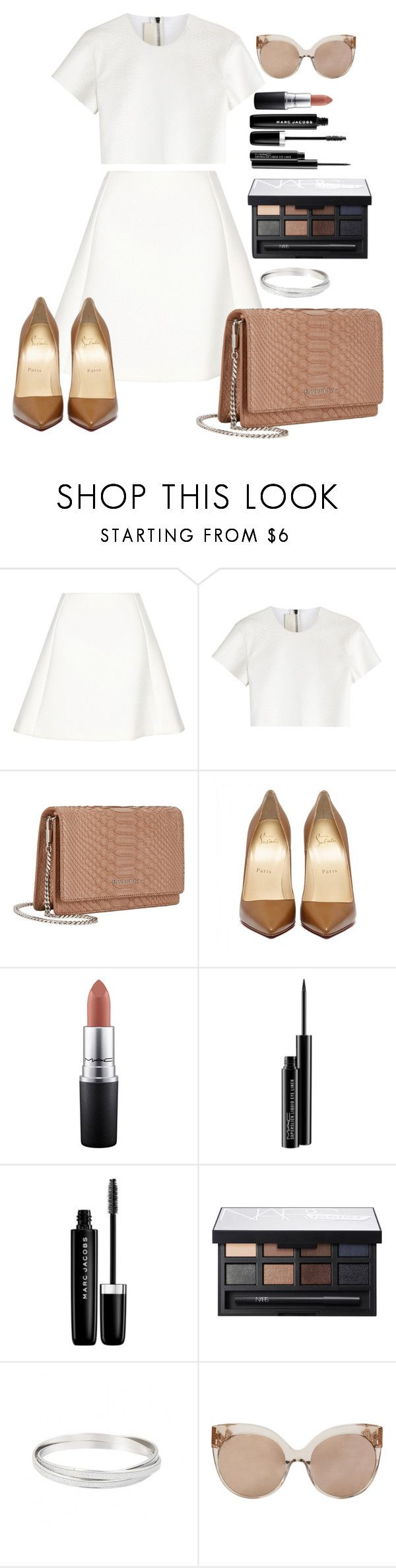 """Untitled #1418"" by fabianarveloc on Polyvore featuring Neil Barrett, Givenchy, MAC Cosmetics, Marc Jacobs, NARS Cosmetics and Linda Farrow"