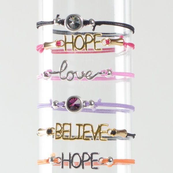 Bracelet Bars - schnelle Armbänder mit Gummikordel und Metallanhängern für Armbänder.