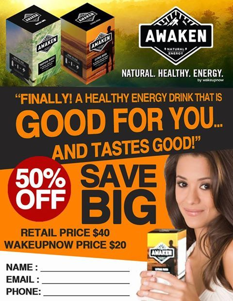 "The Awaken Energy Drink, Wake Up Now's new product release has been the latest ""buzz"" in the world of Network Marketing.    Wake Up Now's new Energy Drink ""Awaken"" is expected to compete with similar Energy Supplements in the direct sales arena; meaning that company's such as Advocare, Vemma, Ambit, Ignite, and Viridian are likely to experience a ""headache"" for lack of better words. #NeoNetwork #WakeUpNow #Marketing #Vemma #EnergyDrink"