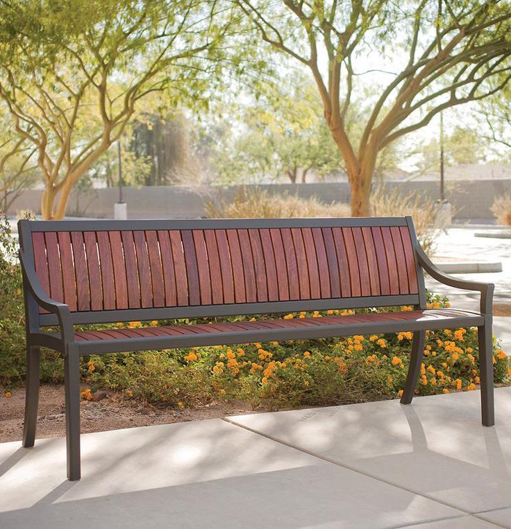 Cordia Bench shown in 6 foot backed