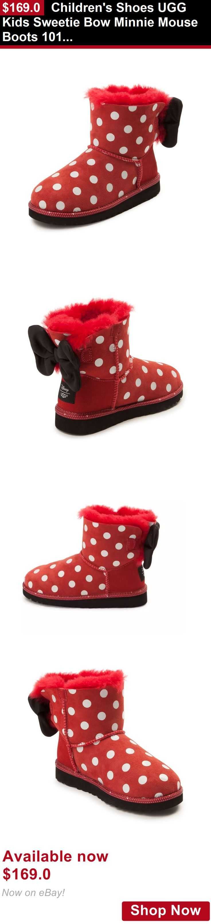Children girls clothing shoes and accessories: Childrens Shoes Ugg Kids Sweetie Bow Minnie Mouse Boots 1015772K Red *New* BUY IT NOW ONLY: $169.0