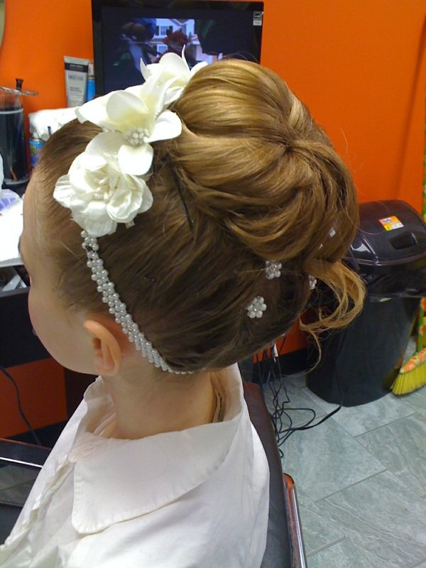 Wedding updo hairstyles tutorials for first communion