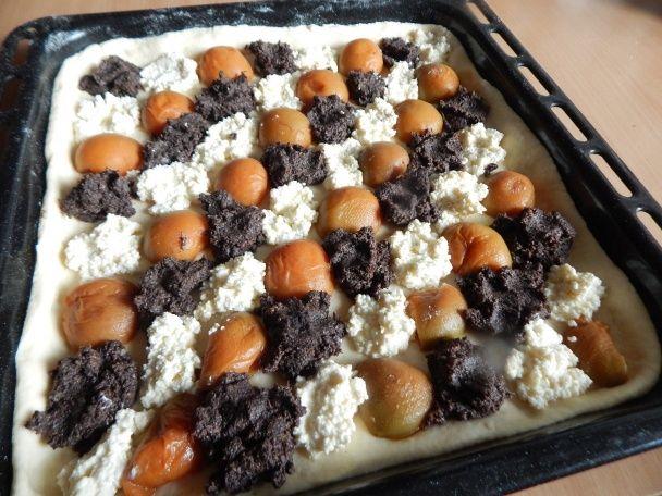 Kysnutý koláč s makom, tvarohom a marhuľami (fotorecept) - obrázok 4