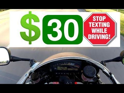 Thoughts on texting and driving law - LiterBikeCentral
