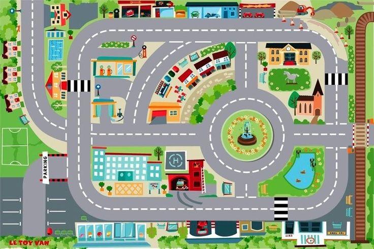 """Игровой коврик """"Город"""" 120х80 см, Le Toy Van. Игровые коврики для игровых наборов."""