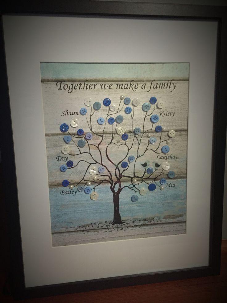 Button Art Family Tree