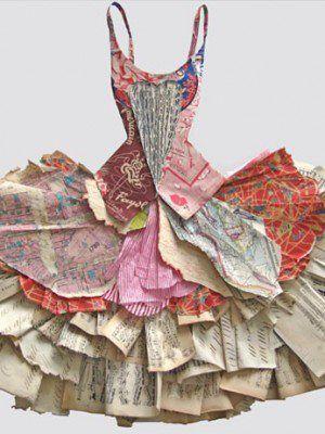 Peter Clark paper dress Arrangements An arrangement of paper , could be inspiration for GCSE question Arrangements