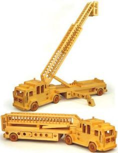 19-W3652 - Ladder Fire Truck Woodworking Plan
