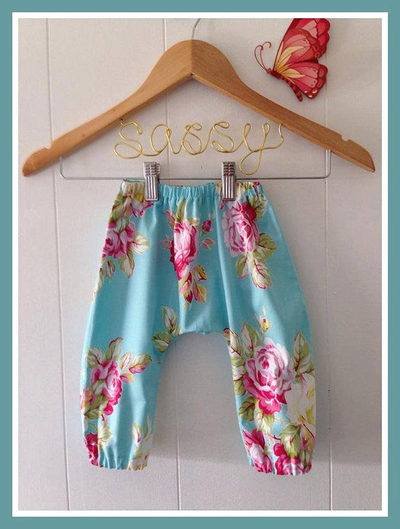 Baby Harem pants Size 0  Handmade in a by SassyLittleSistas, $30.00