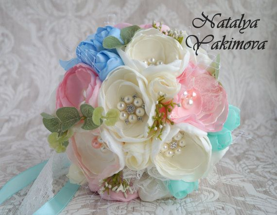 Brooch Bouquet Silk Bouquet Bridal Bouquet Wedding Bouquet