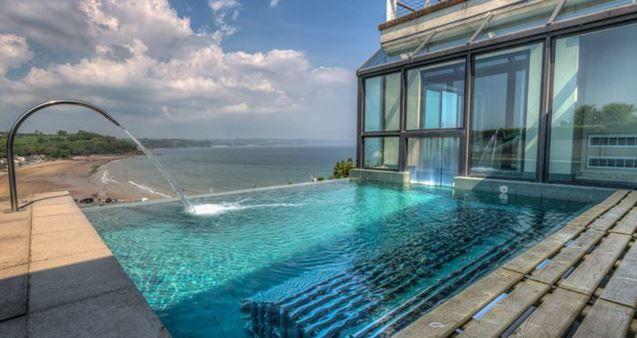 www.aroundaboutbritain.co.uk. St Brides Spa Hotel. Saundersfoot. Pembrokeshire. Wales. UK. Hotel. Travel. Stay. Relax. Unwind. Luxury. Spa. Sea Views. Coast. Golf.