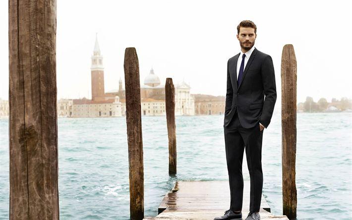 Télécharger fonds d'écran Jamie Dornan, l'acteur Britannique, de Venise, de la mode masculine de modèle