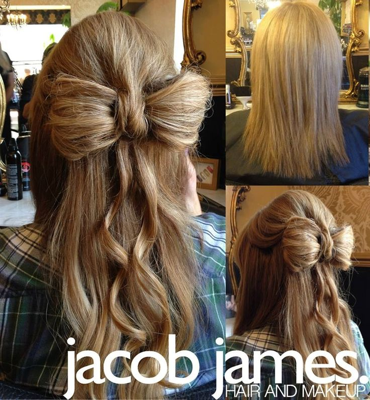 Steal Jessica Simpson S Pretty Half Up Wedding Hairstyle: Hair Bow Half Updo For Wedding Guest