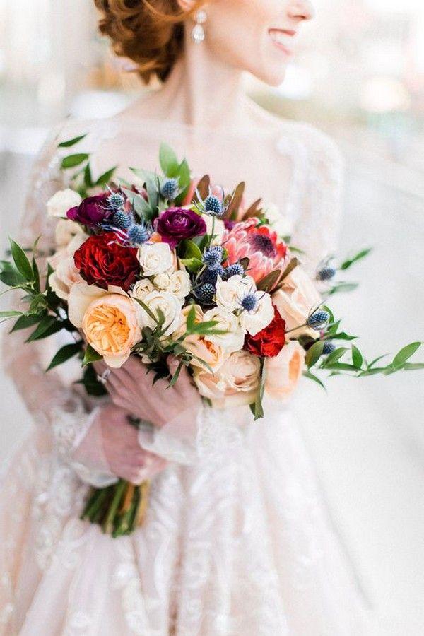 25 schitterende bruidsboeketten voor lente / zomer 2019