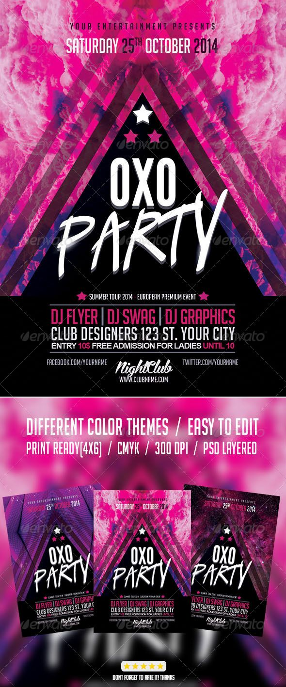 Best Invitation Templates Images On Pinterest Flyer Template - Party invitation template: club party invitation template