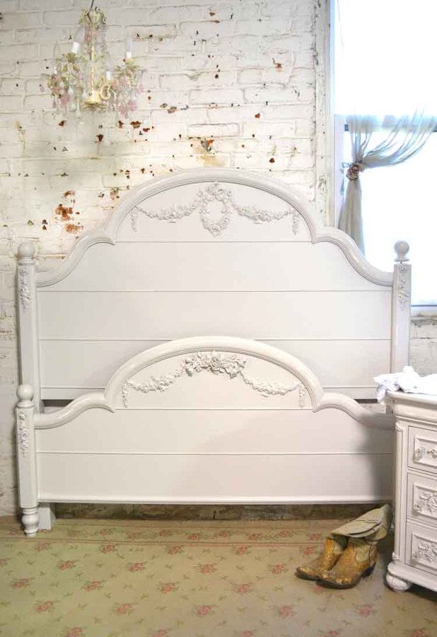 French Bed Painted Shabby Chic Romantic Bed Frame Be A One Of A