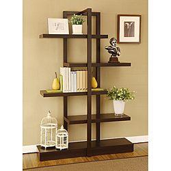 Addison Cappuccino Bookcase Display Stand