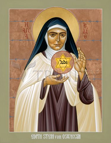 "St. Edith Stein of Auschwitz | Catholic Christian Religious Art - Icon by Br. Robert Lentz, OFM - From your Trinity Stores crew, ""St. Edith please pray for us!"""