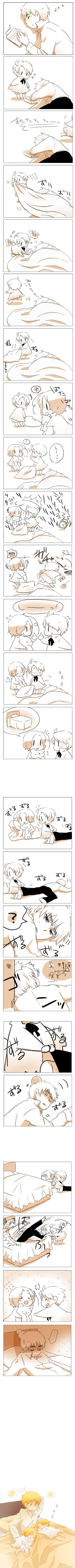 Arthur's Nap by とこ -- this has to be one of the cutest hetalia fancomics i've ever seen!! X3