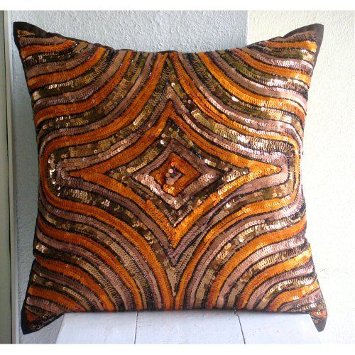 191 best Orange Pillows Cushions images on Pinterest