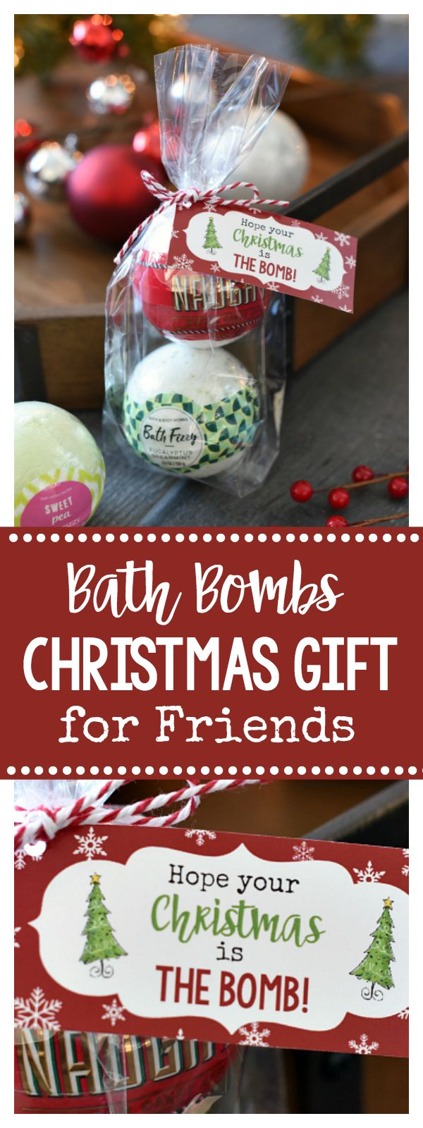 Christmas Bath Bombs Gift Idea for Friends – Fun-Squared