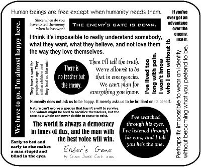 Enders Game, all the words to know.
