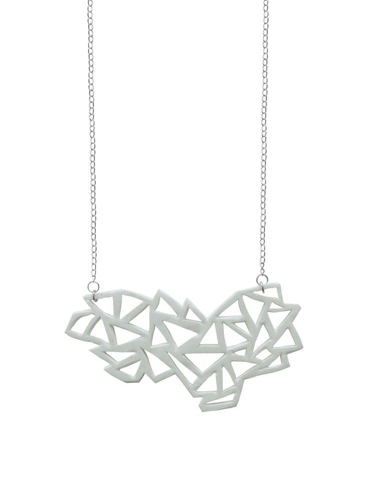 Geometric necklace by Nouseva Myrsky!  http://shop.nousevamyrsky.fi #necklace #jewelry #design #geometric