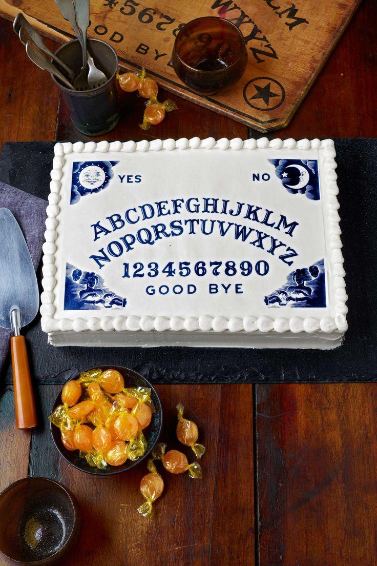 Ouija Board Cake--54 unique Halloween cakes