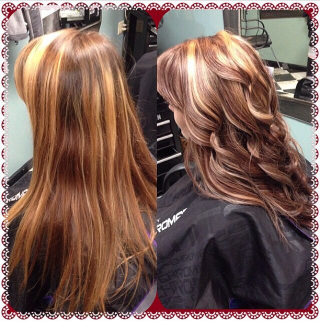 #blonde #highlights and #red #brown #copper lowlights # ...