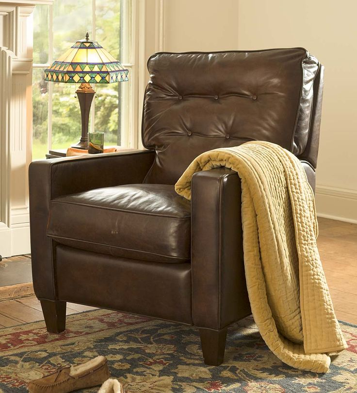 Push-Back Leather Recliner | Chairs