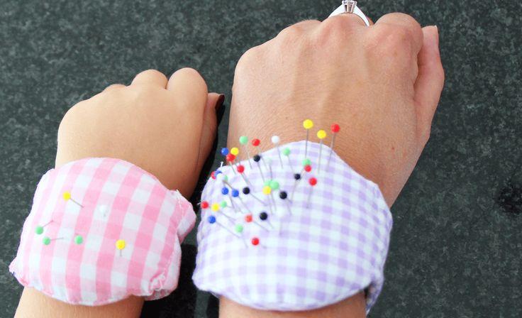 Nadelkissen für das Handgelenk nähen | DIY | aus Stoffresten | Family Management