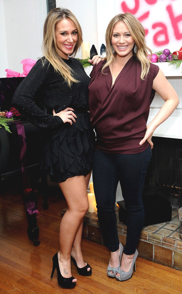 "Hilary Duff Is ""So Proud"" of Sister and New Mom Haylie Duff: ""She's Really a Natural""  Haylie Duff, Hilary Duff, Celeb Sisters"