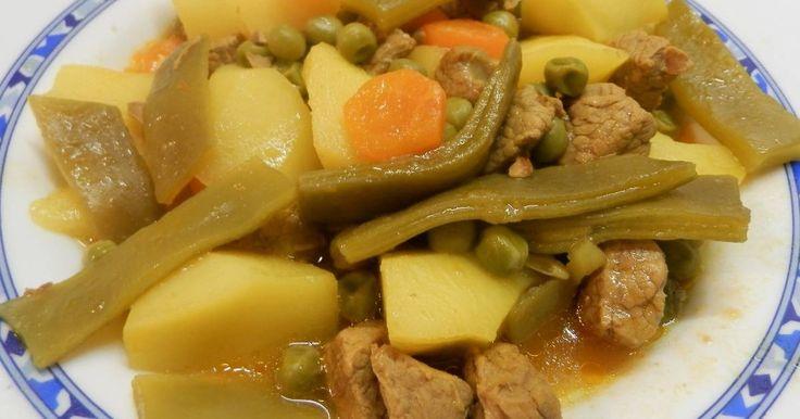 Fabulosa receta para Ternera guisada con verduras y patatas.