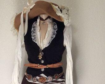 Voltooien van piraat Halloween kostuum door PassionFlowerVintage