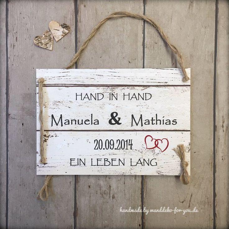 27 besten Holzschilder Liebe Hochzeit von wanddeko for you