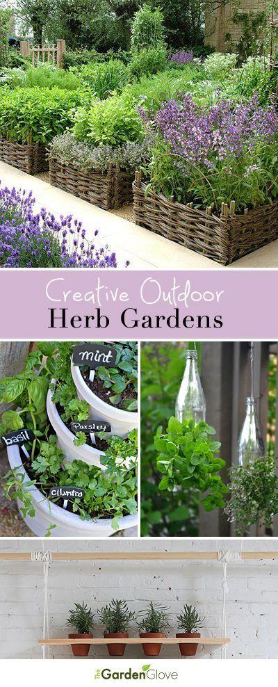 Creative Outdoor Herb Gardens • Ideas and Tutorials!