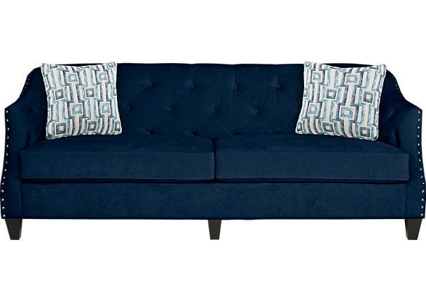 Sofia Vergara Monaco Court Navy Sofa With Images Affordable