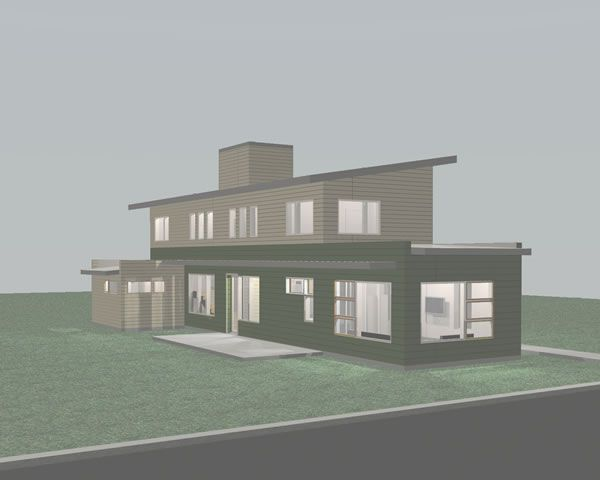 Modern prefab homes house plans taken a step further with for Sip building kits