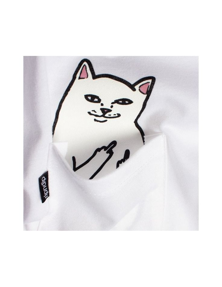 RIPNDIP Lord Nermal Pocket Tee White