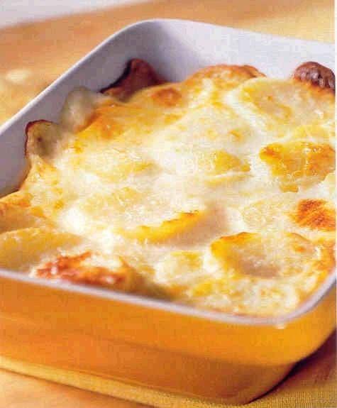 Aardappelgratin met Boursin.