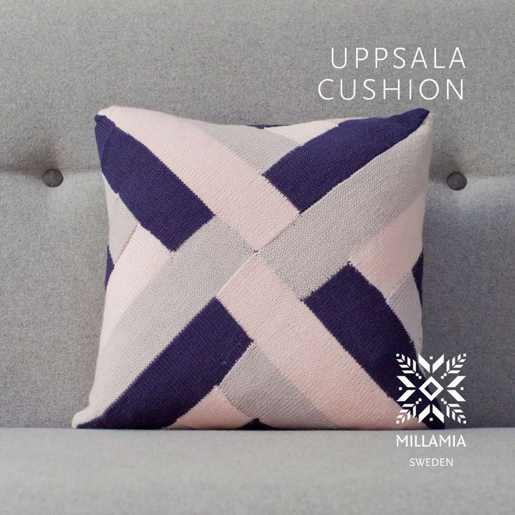 Uppsala Cushion Cover knitting pattern in MillaMia Naturally Soft Merino - Downloadable PDF. Discover more patterns by MillaMia at LoveKnitting.