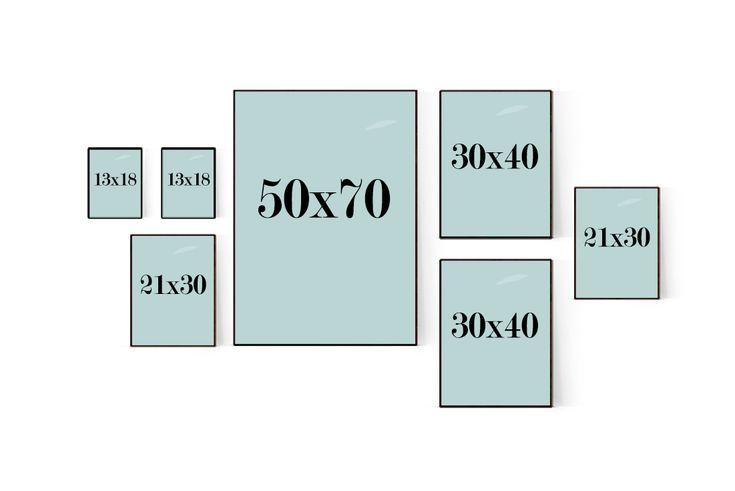 Tavelvägg och tavelcollage för ditt hem eller kontor