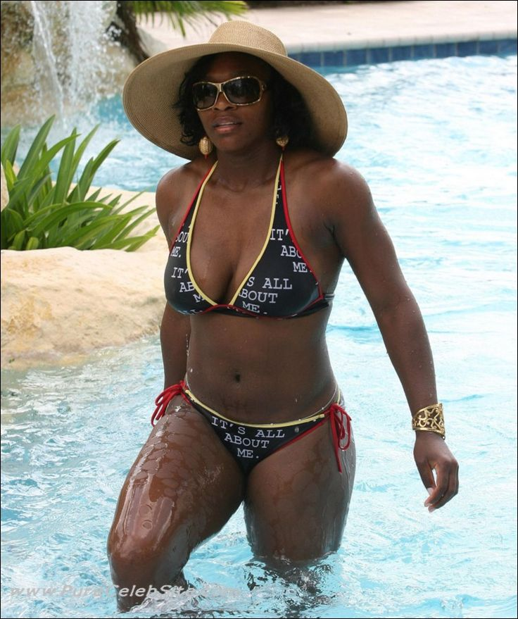 black girl in bikini and thong